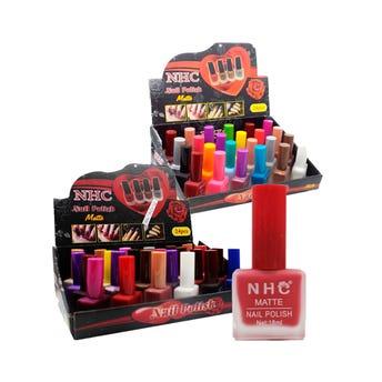 Esmalte Para Uñas Matte Nhc, Colores Surtidos, 18 Ml.
