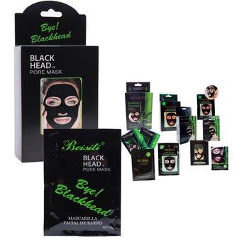 Mascarilla facial negra CHARCOAL, hidrata, suaviza y limpia la piel, mod sujeto a disp, 20 grs.