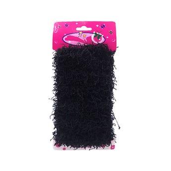 Dona para cabello coco, color negro, 7 cm