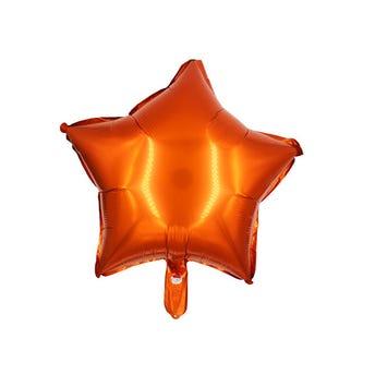 Globo estrella naranja 43 X 43 cm.