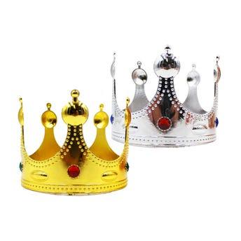 Corona grande con brillantes, 2 colores sujetos a disp, 12 X  17 cm.