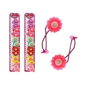 Coletero de flor con glitter, colores surtidos, 3 cm