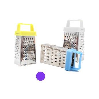 Rayador metálico mini, plateado, colores sujetos a disp, 7 X 4 X 3 cm, aprox.