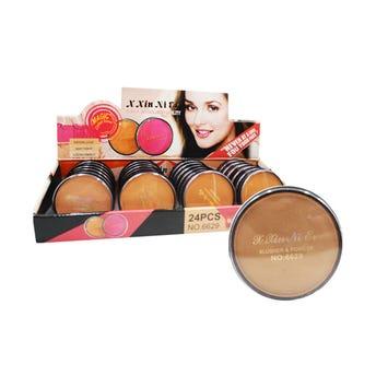 Maquillaje Compacto, Xin Ni Er, 4 Tonos Surtidos, 6 Cm.