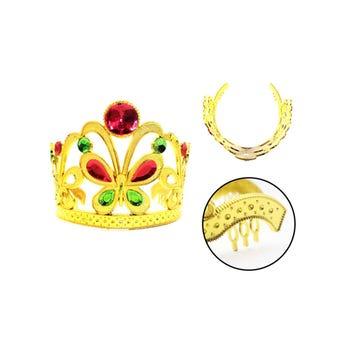 Corona para niña mariposa, inner por color sujeto a disp, 13 cm.