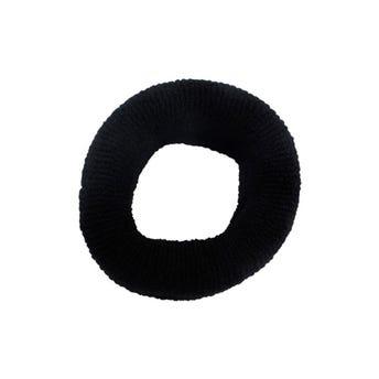 Dona para cabello tipo toalla jumbo, NOVELTY, negra, 4 x 10 cm.