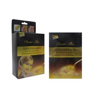 Mascarilla Facial Con Colágeno De Oro, Limpieza Y Eliminación De Acné, 20 Grs.
