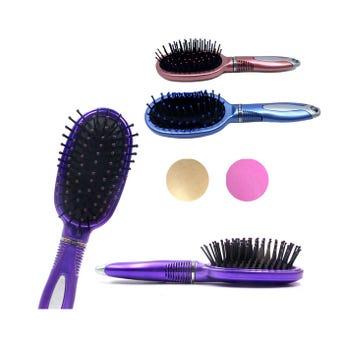 Cepillo profesional con puntas redondas, colores surtidos, 17 x 5 cm.