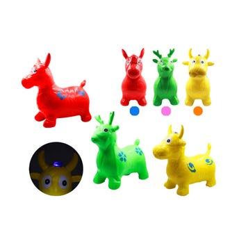 Montable infantil brinca brinca con luz en forma de animalitos, inner por mod sujeto a disp, 48X35 c