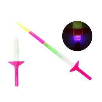 Espada expandible con luz, colores surtidos sujetos a disp, 68.5 cm.