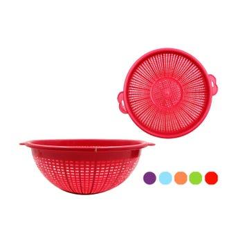 Colador de plástico # 1, colores surtidos, 22 X 8 cm.
