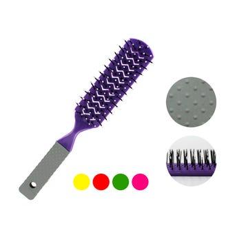 Cepillo paleta puntas redondas, colores surtidos, 21.5 cm.