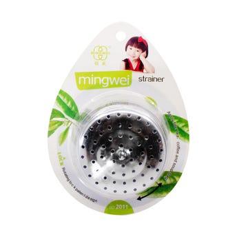 Infusor metálico para té, plateado, 5.5 X 3.5 cm.