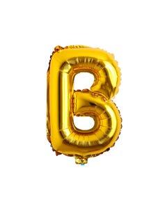 Globo letra B, dorado, 43 x 28 cm, 16 pulg.