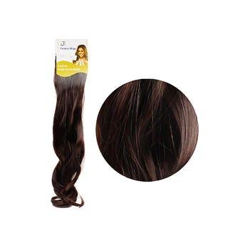 Extensión para cabello, ondulado, caoba, 23 x 50 cm.