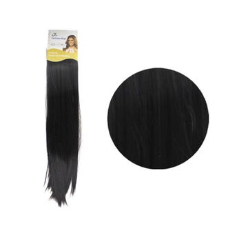 Extensión para cabello, lacio, negro, 23 x 56 cm.