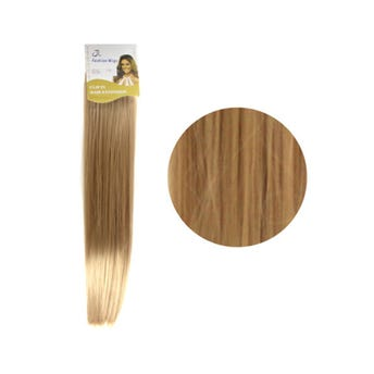 Extensión para cabello, lacio, rubio dorado claro, 23 x 56 cm.