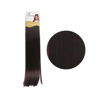 Extensión para cabello, lacio, caoba, 23 x 56 cm.