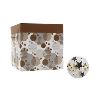 Caja para regalo cubo, modelos surtidos, 15 X 15 X 15 cm.