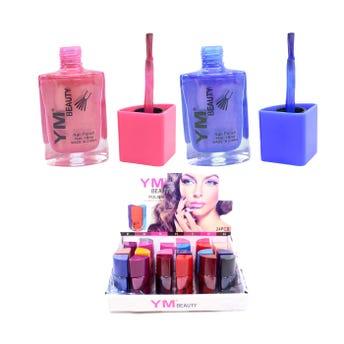 Esmalte para uñas, YM BEAUTY, colores surtidos sujetos a disp, 18 ml.
