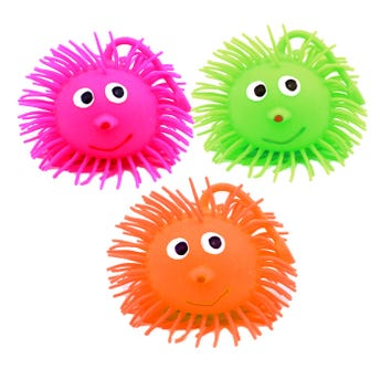Yoyo pelota erizo grande con luz, colores surtidos, 8 cm.