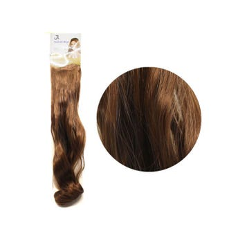 Extensión para cabello, ondulado, castaño claro dorado, 23 x 50 cm.