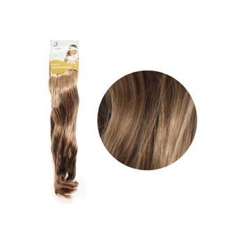 Extensión para cabello, ondulado, rubio mate claro, 23 x 50 cm.