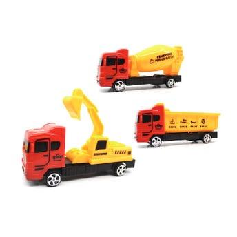 Carro camión de contrucción de fricción, modelos surtidos, 12.5 x 3.8 cm aprox