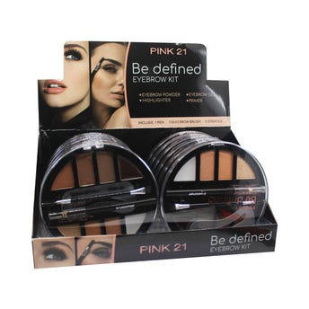 Maquillaje en kit profesional para ceja con accesorios, BE DEFINED PINK 21, 15 grs, 12.5 cm