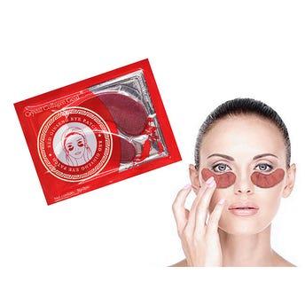 Colágeno para ojos en par de ginseng rojo, hidrata, nutre y rejuvenece la piel, 6.5 X 3 cm.