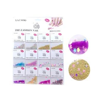 Decoración para uñas de esféras, con figuras, colores surtidos.