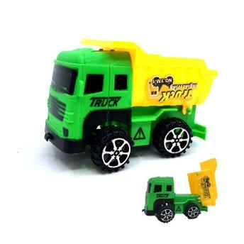 Carros de construcción y volteo, modelos y colores surtidos, 9 X 5.5 cm aprox.