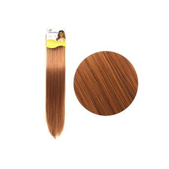 Extensión para cabello, lacio, rojo cobrizo, 23 x 56 cm.