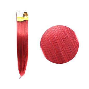 Extensión para cabello, lacio, rojo fresa, 23 x 56 cm.
