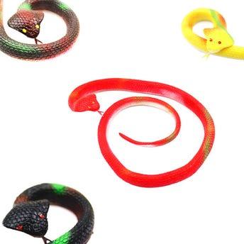Víbora de caucho, colores surtidos, 70 cm.