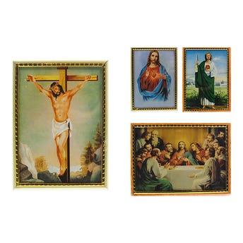 Cuadro religioso, modelos surtidos sujetos a disp, 15 x 11 cm.