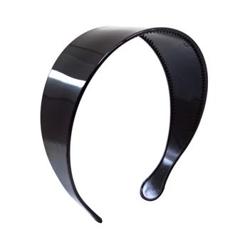 Diadema lisa ancha, negro, 5 cm.