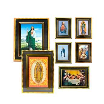 Cuadro religioso, modelos surtidos, 14 X 19 cm.