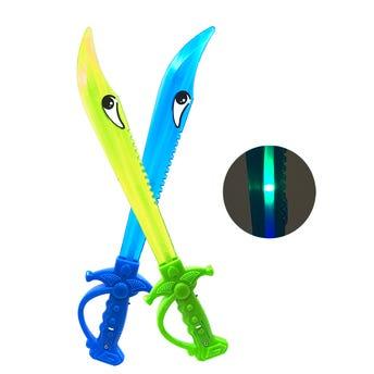 Espada con luz, colores surtidos, 38 cm.