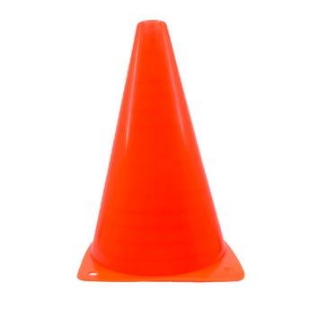 Cono de plástico, naranja, 18 X 11 cm.