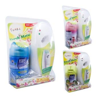 Aromatizante de ambiente en spray, usa 2 pilas AA incluidas, 300 ml, aromas sujeto a disp, 20 X 8 cm