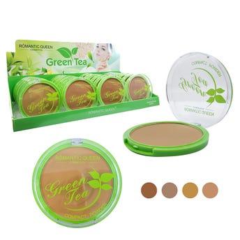 Polvo compacto de té verde, tonos surtidos, 10 grs.