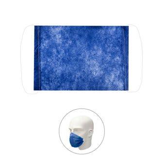 Cubrebocas bicapa, azul, 6.5 X 12 ccm.