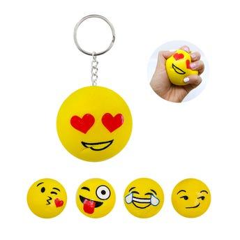 Llavero SQUEEZY emoji, modelos surtidos, 6 cm.
