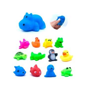 Animalitos de plastico con sonido, modelos surtidos, 6 X 4 cm aprox.