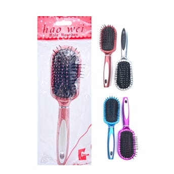 Cepillo profesional con puntas redondas, colores surtidos, 23 cm.