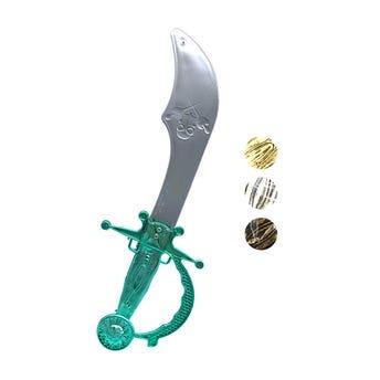 Espada pirata de juguete, colores surtidos, 32 cm.