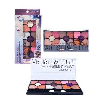 Sombra para ojos, paleta con 15 colores y aplicador, AIDA BEAUTY, inner por comb sujeto a disp, 16 X