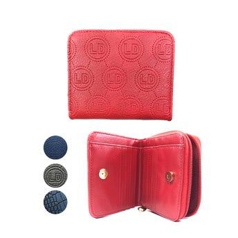 Monedero cartera para dama de vinipiel, colores surtidos, 11.5 x 10 cm