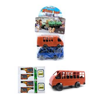 Carro micro bus GRANDE, set con 2 pz, colores surtidos, 16 X 7 X 6 cm.